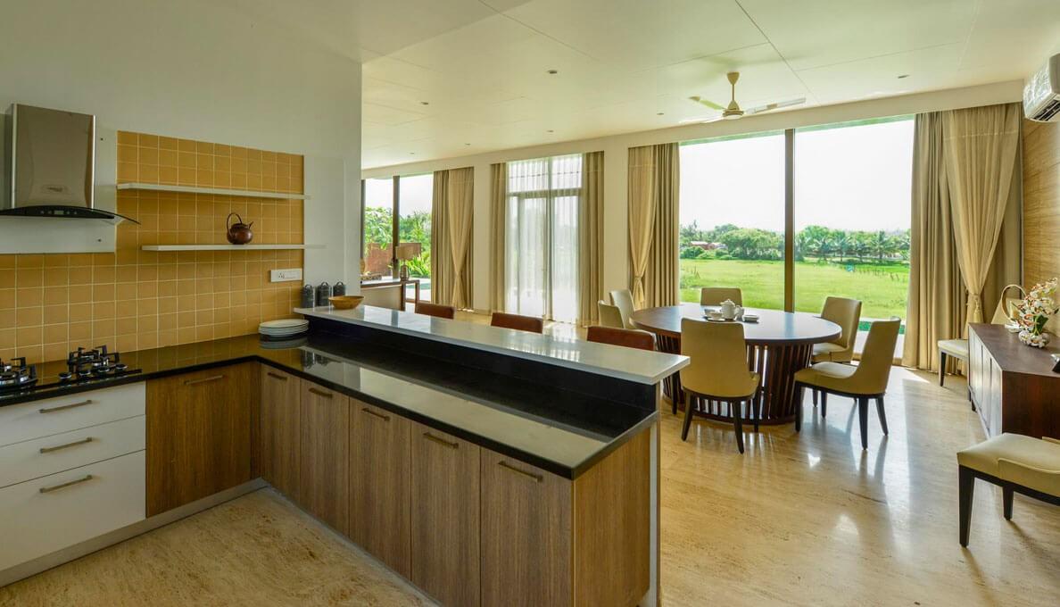 Sohonos Luxury Villas Kitchen Area